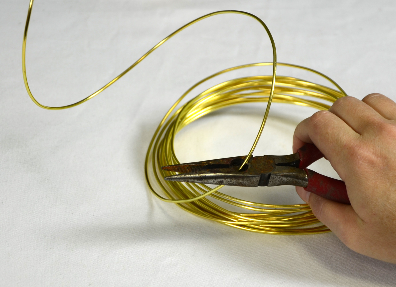 Gold craft wire curls