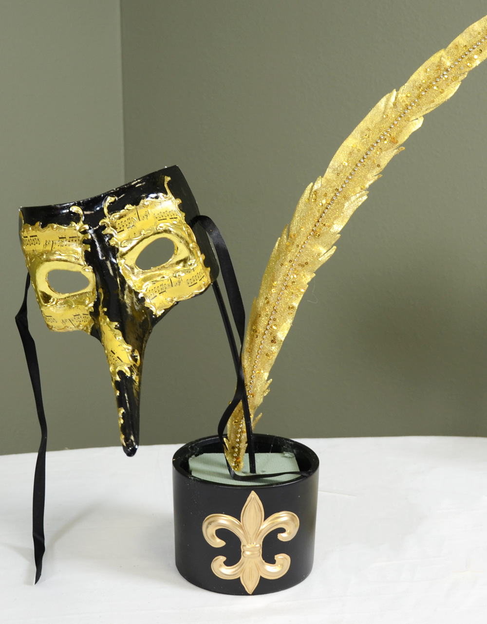 Party Ideas by Mardi Gras Outlet: Black & Gold Masquerade Mask ...