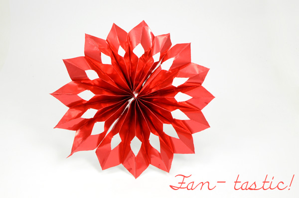 diy paper fan flower
