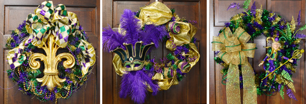 3 Mardi Gras wreath ideas