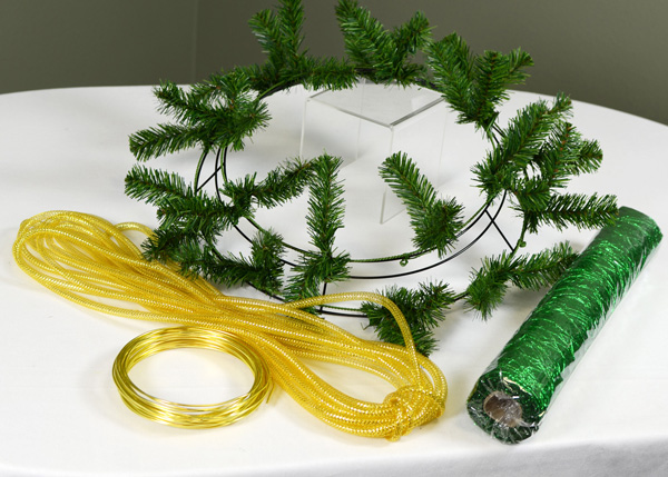 Supplies for St. Patrick's Day wreath