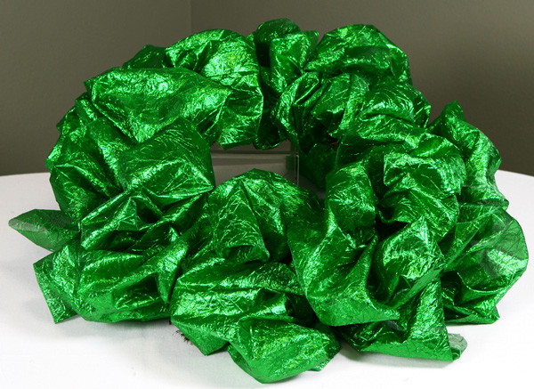 Step 3 of St. Patrick's Day wreath tutorial