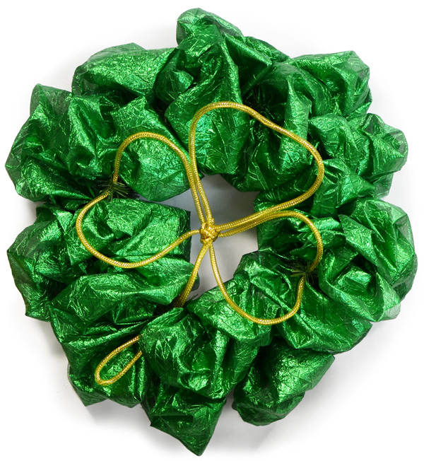 Finished St. Patrick's Day wreath