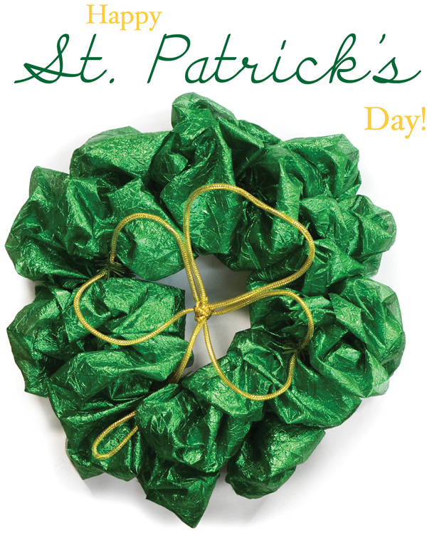 St. Patrick's Day Green Lame Wreath