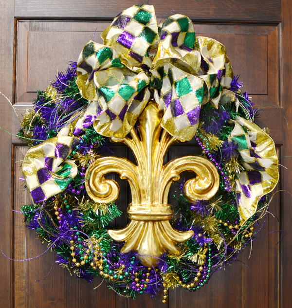 Party ideas by mardi gras outlet wreath