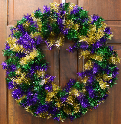 Mardi Gras greenery wreath form