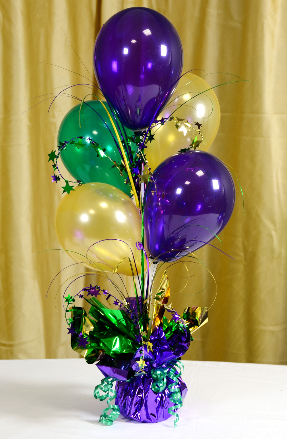 Mardi gras balloon decorations party favors ideas for Ballom decoration