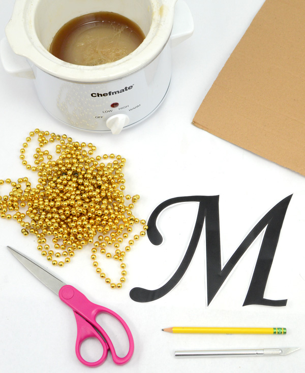 mardi gras beads crafts ideas monogram letter tutorial