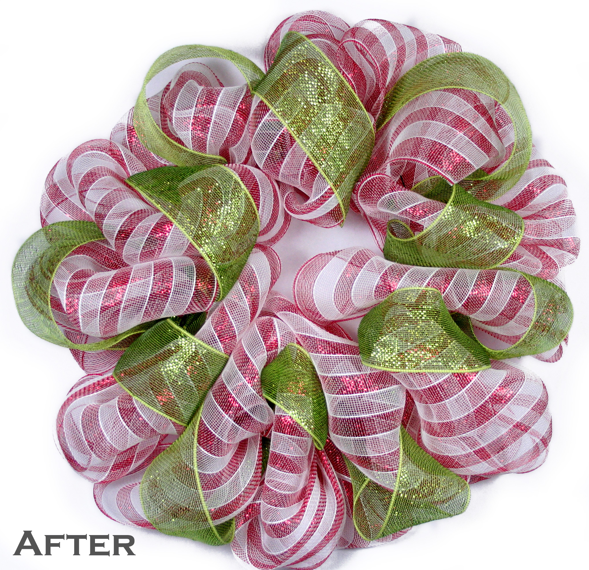 Party Ideas By Mardi Gras Outlet Candy Cane Stripe Holiday Wreath Ez Wreath Form Tutorial