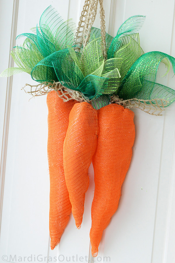 deco mesh carrot tutorial instructions
