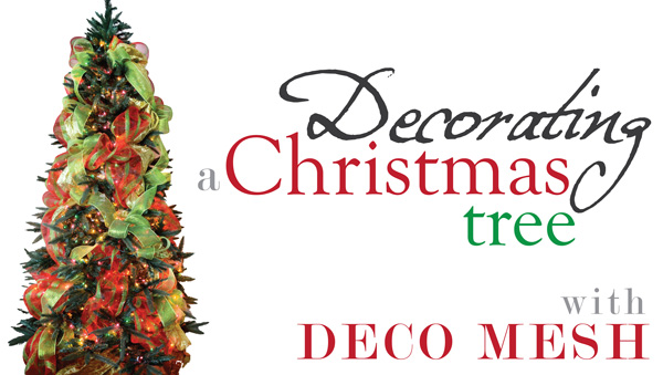 christmas tree decorating with deco mesh a video tutorial