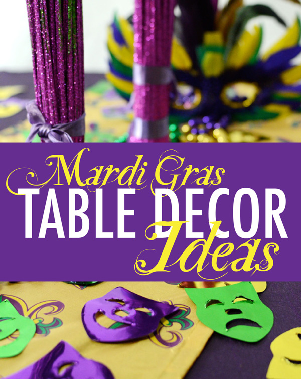 mardi gras table decorations ideas tablescape confetti centerpieces napkin ring place setting diy