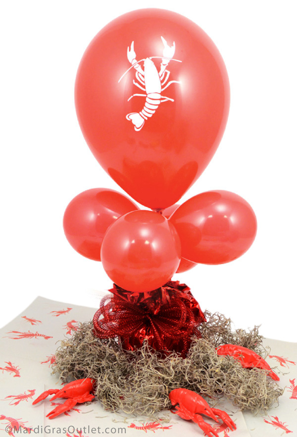 Party ideas by mardi gras outlet crawfish balloon