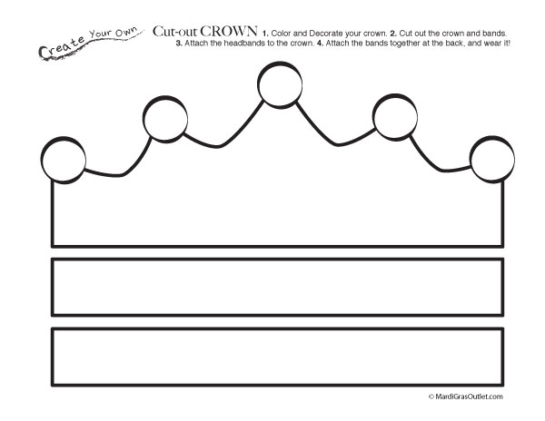 free printable cut-out crown coloring page