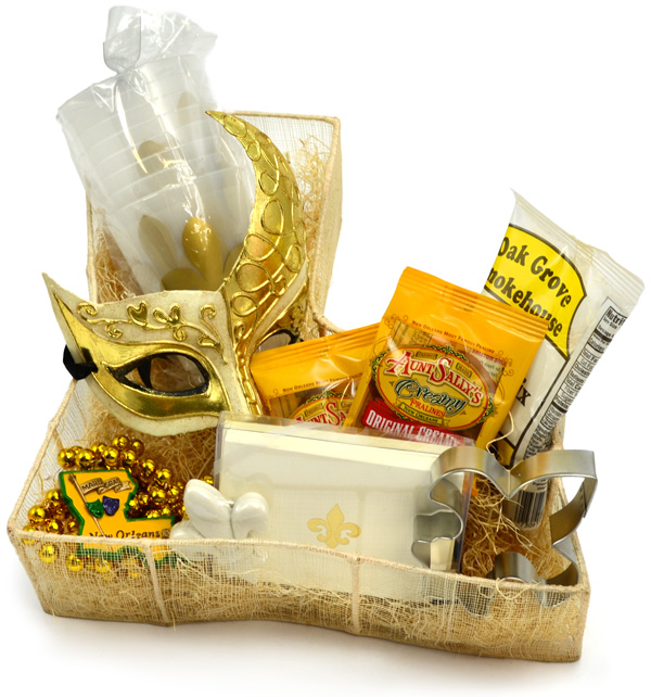 Louisiana/Mardi Gras wedding gift basket