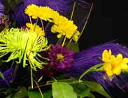 Mardi Gras centerpiece flowers