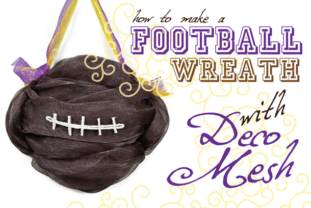 deco mesh football wreath tutorial