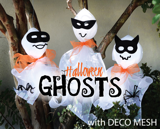 deco mesh Halloween ghosts
