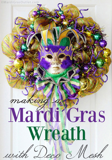 mardi gras wreath ideas deco mesh