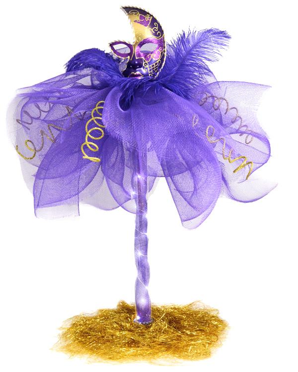 Party ideas by mardi gras outlet masquerade column deco