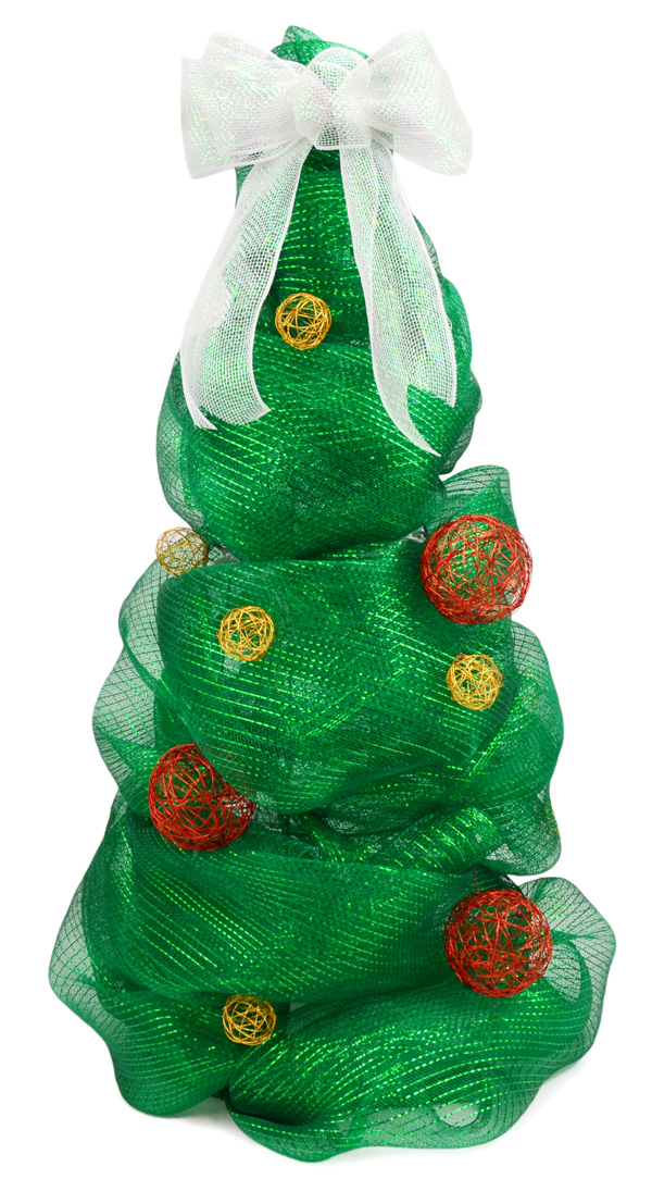deco mesh christmas tree lights turned off - Christmas Tree Mesh Ribbon