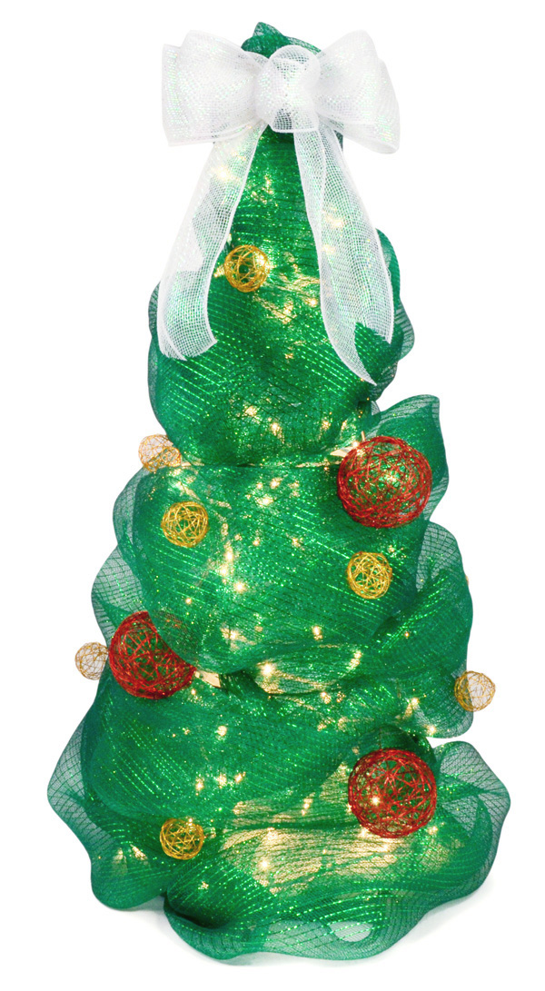 deco mesh christmas tree tutorial