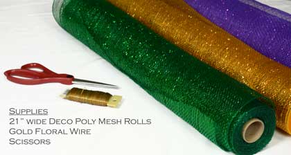 Mardi Gras centerpiece supplies