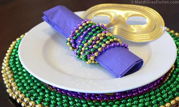 Party Ideas by Mardi Gras Outlet Mardi Gras Table Decorations-3 Simple Napkin Ring Ideas  sc 1 st  Party Ideas by Mardi Gras Outlet & Party Ideas by Mardi Gras Outlet: Mardi Gras Table Decorations-3 ...