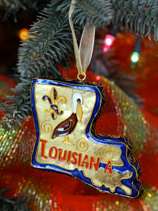cloisonne louisiana ornaments for christmas decorating