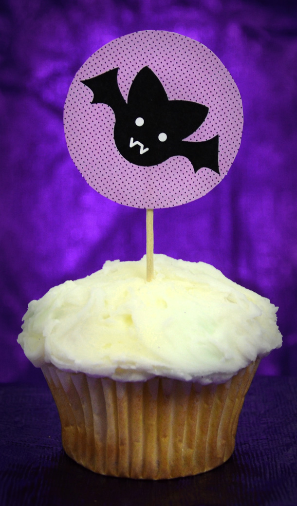 Halloween Cupcake Topper Printable Bat