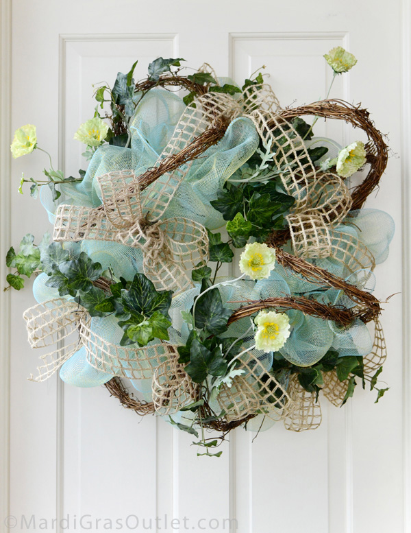 spring summer deco poly mesh wreath ideas