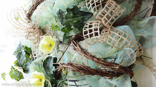 natural deco mesh wreath