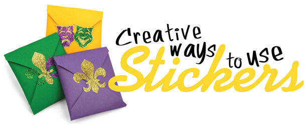 Creative ways to use Mardi Gras Sticker