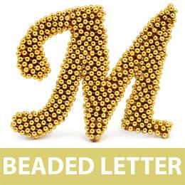 Beaded Letter