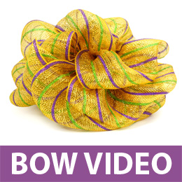 Making Bow With Deco Mesh