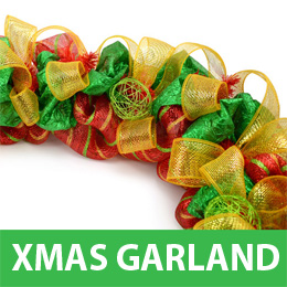Making a Christmas Garland with Deco Mesh