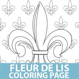 Party ideas by mardi gras outlet free printables for Fleur de lis coloring page