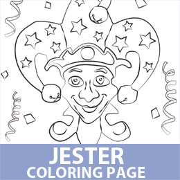 free coloring pages of jesters - photo#24