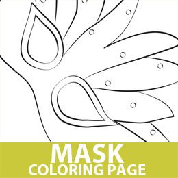 Free Mardi Gras King Cake Coloring Page