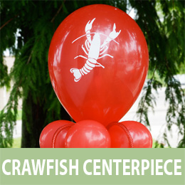 Crawfish Balloon Centerpiece