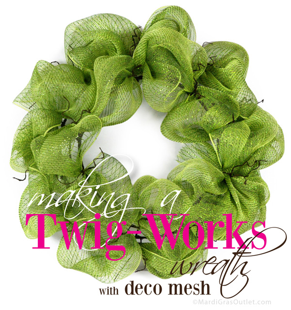 how to make mesh ribbon wreaths step by step