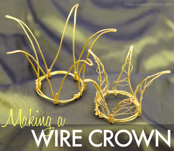 diy wire crown tutorial