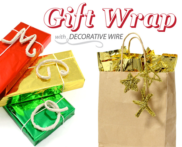 Gift Wrap Ideas Pipe Cleaner Wire Wrapping) border=