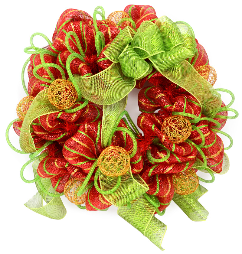 Deco Mesh Christmas Tree Wreath: Party Ideas By Mardi Gras Outlet: Ideas Using Deco Mesh: A