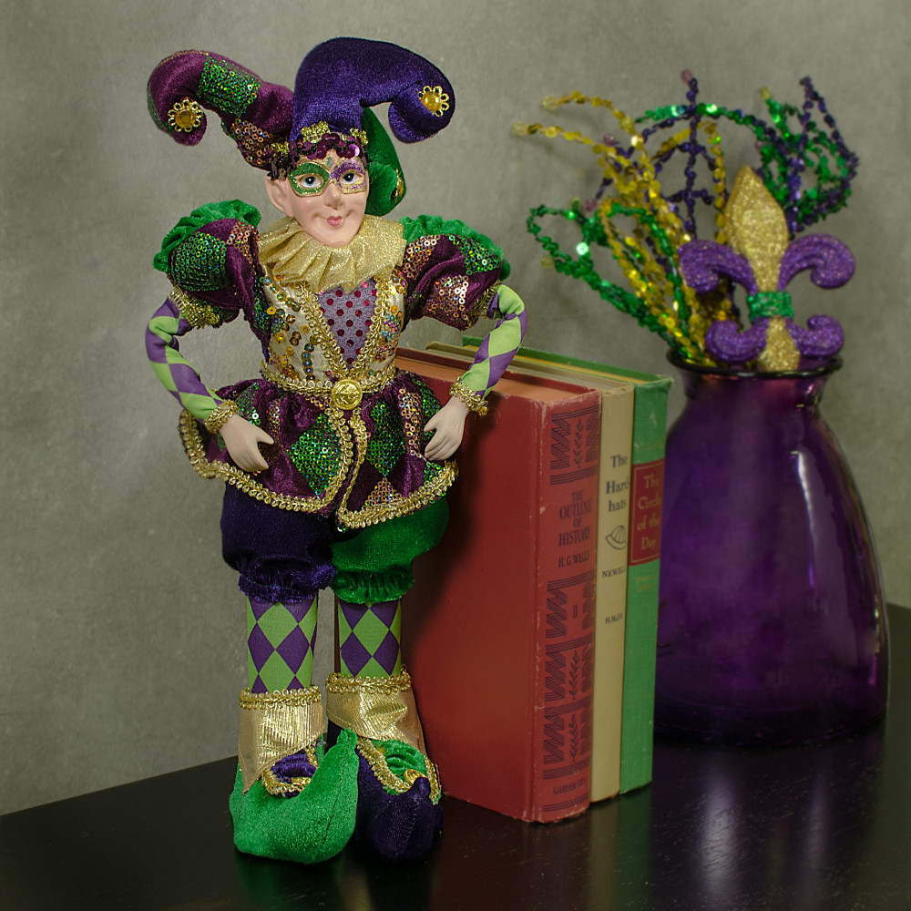 15 Quot Standing Mardi Gras Jester Doll 15 103