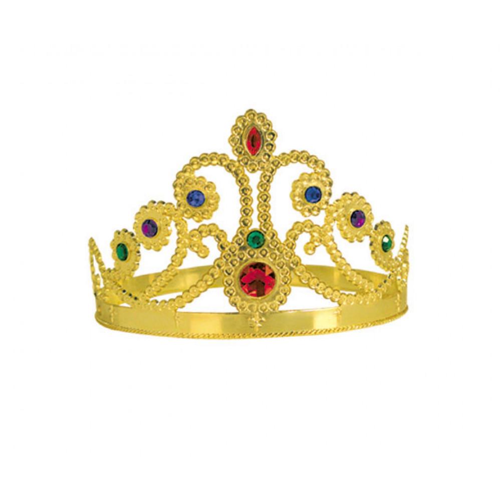 Plastic Queen\'s Crown: Gold [60251-GD] - MardiGrasOutlet.com