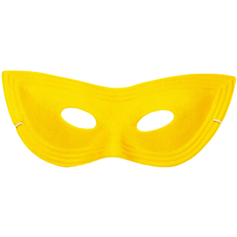 Satin Cat Eye Mask: Yellow [] - MardiGrasOutlet.com