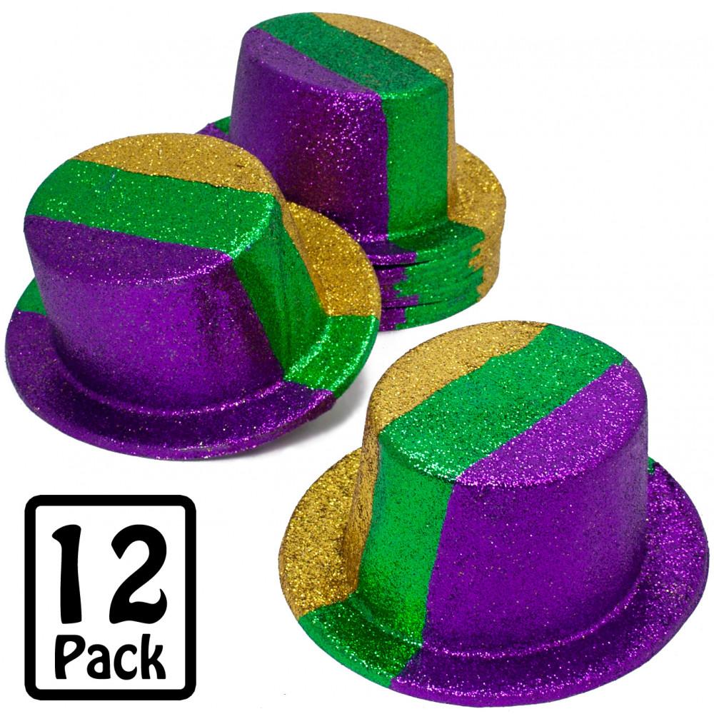 Glitter Mardi Gras Top Hat 12 Mardigrasoutlet Com