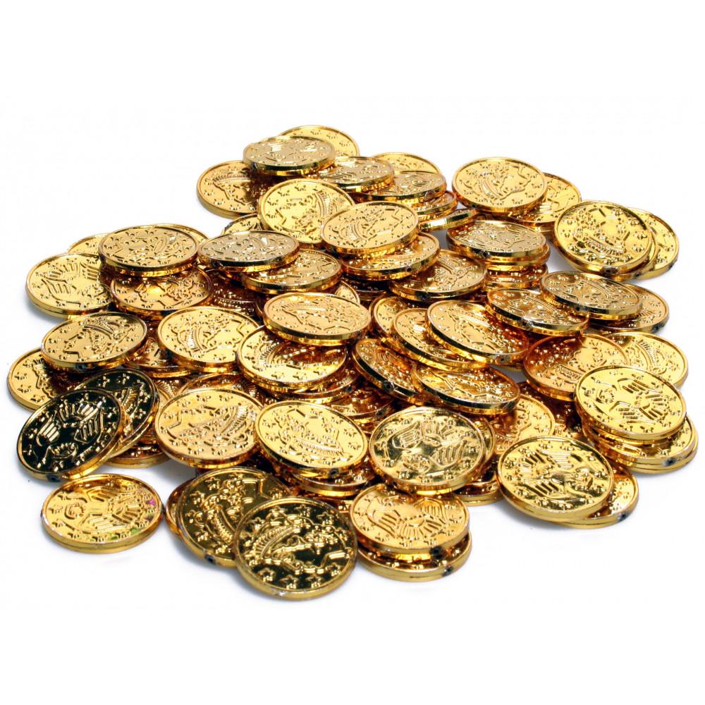 Generic Gold Coins (100) [50856-GD] - MardiGrasOutlet.com