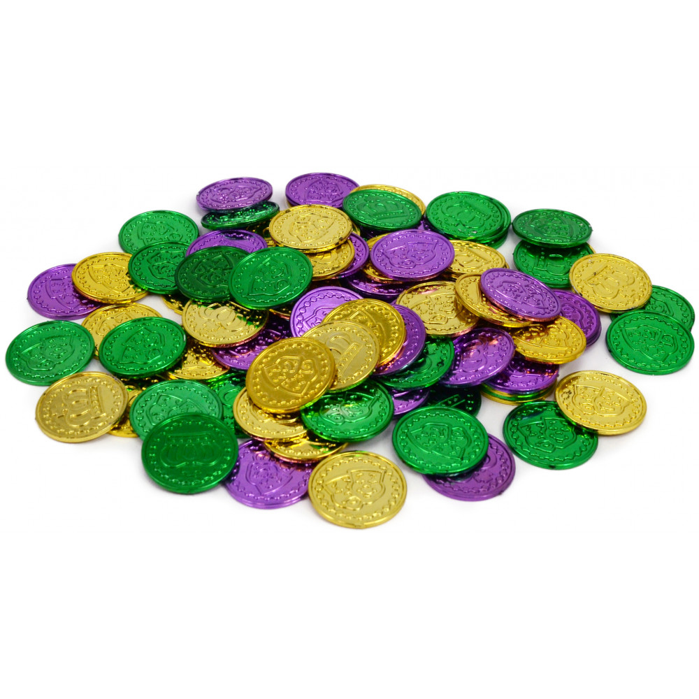 Mardi gras decorations mardigrasoutlet mardi gras coins 100 amipublicfo Images